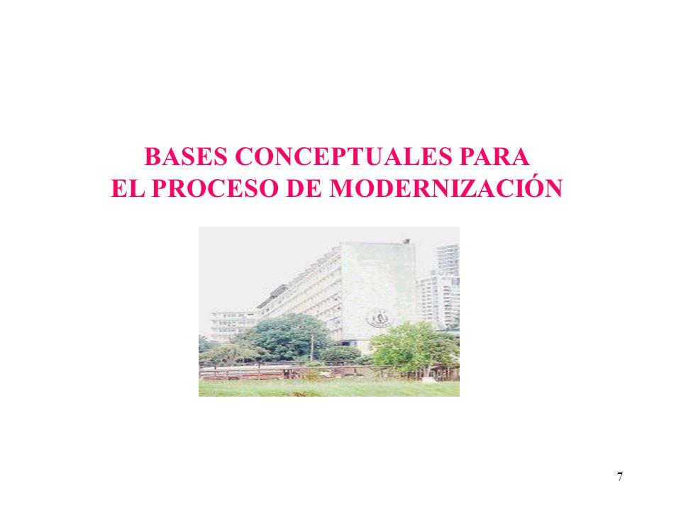 BASES CONCEPTUALES PARA EL PROCESO DE MODERNIZACIÓN