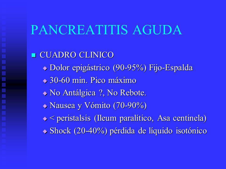 PANCREATITIS AGUDA CUADRO CLINICO