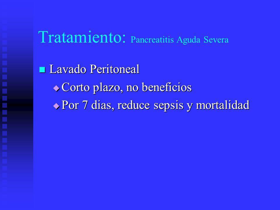 Tratamiento: Pancreatitis Aguda Severa