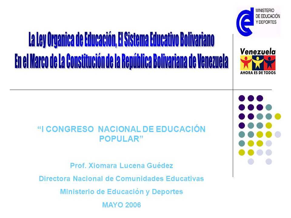 La Ley Organica de Educación, El Sistema Educativo Bolivariano