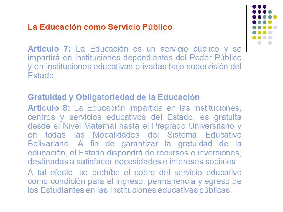 La Educación como Servicio Público