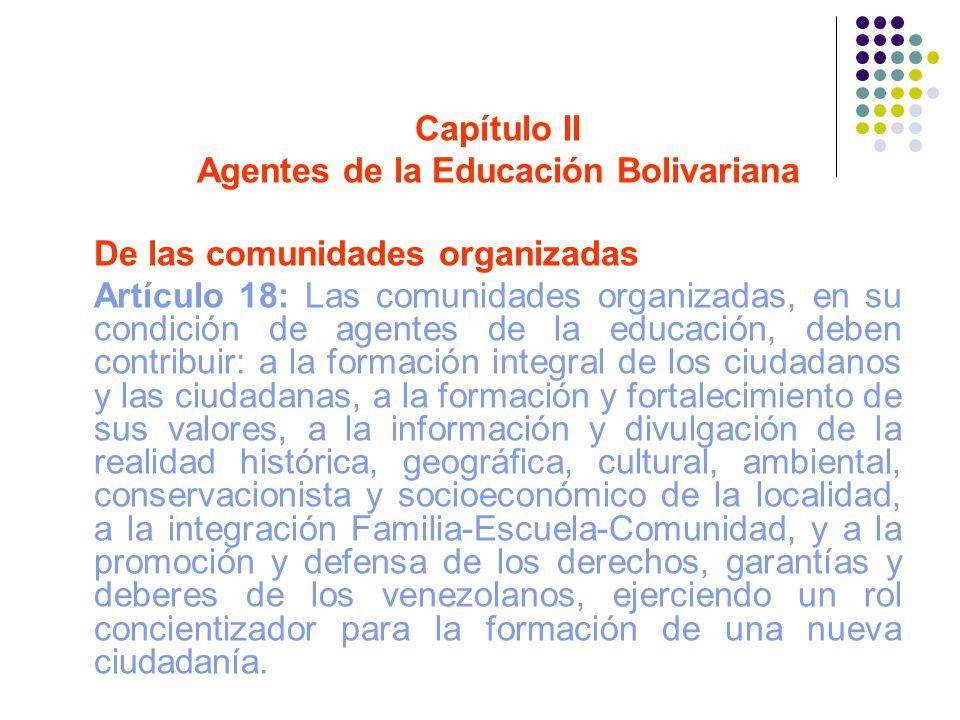 Agentes de la Educación Bolivariana