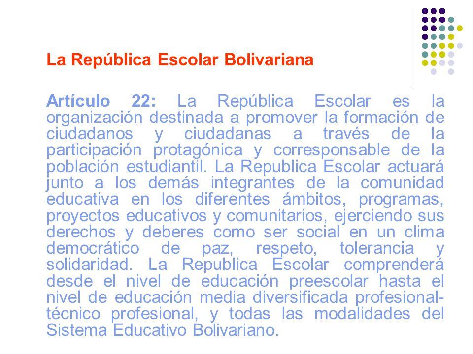 La República Escolar Bolivariana