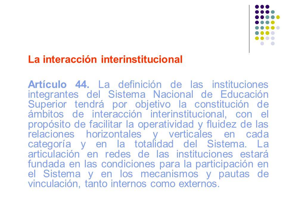 La interacción interinstitucional