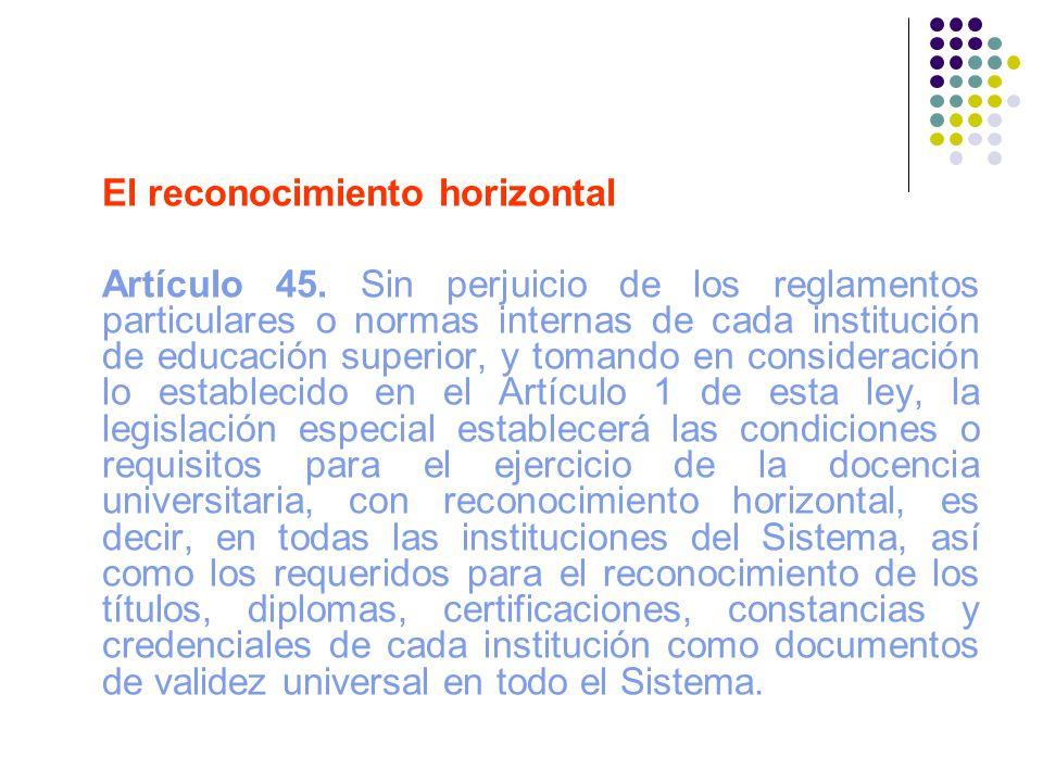 El reconocimiento horizontal