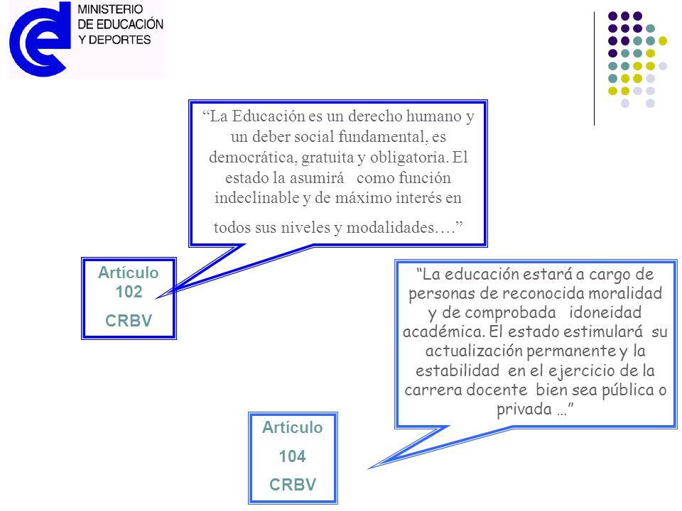 Artículo 102 CRBV.