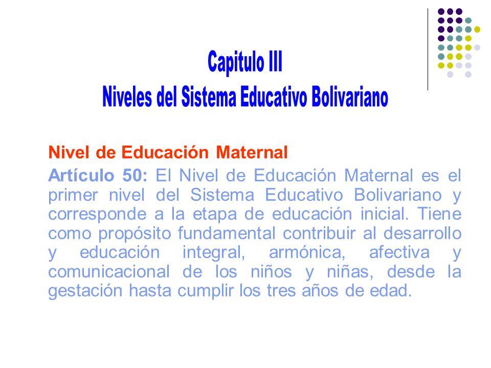 Niveles del Sistema Educativo Bolivariano