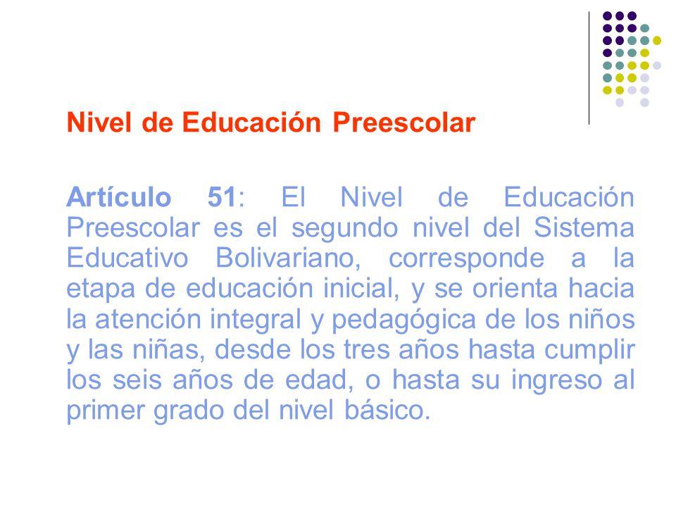 Nivel de Educación Preescolar