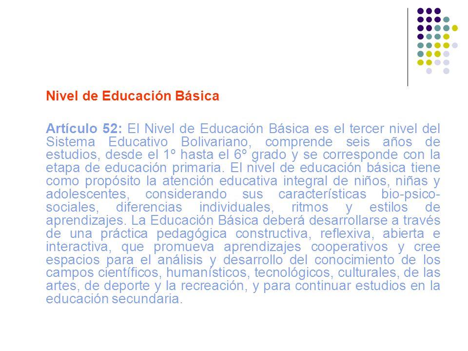 Nivel de Educación Básica