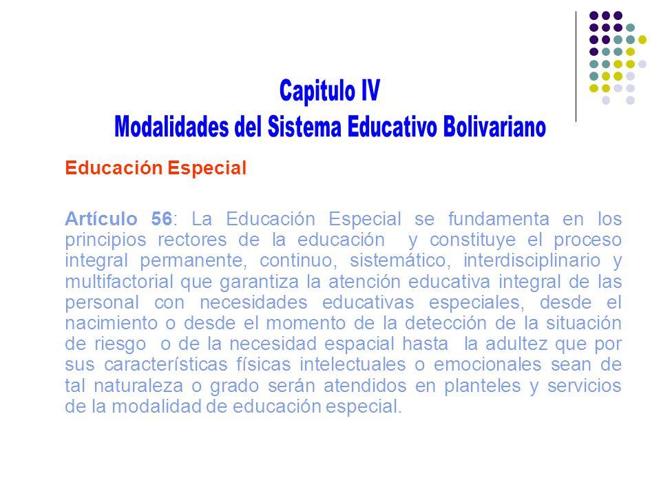 Modalidades del Sistema Educativo Bolivariano