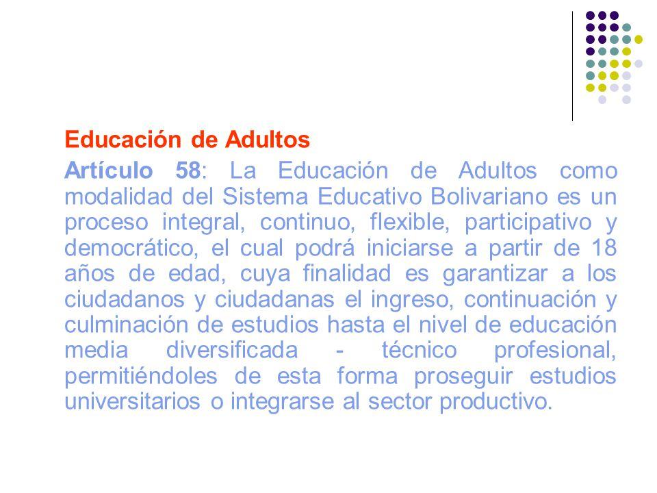 Educación de Adultos