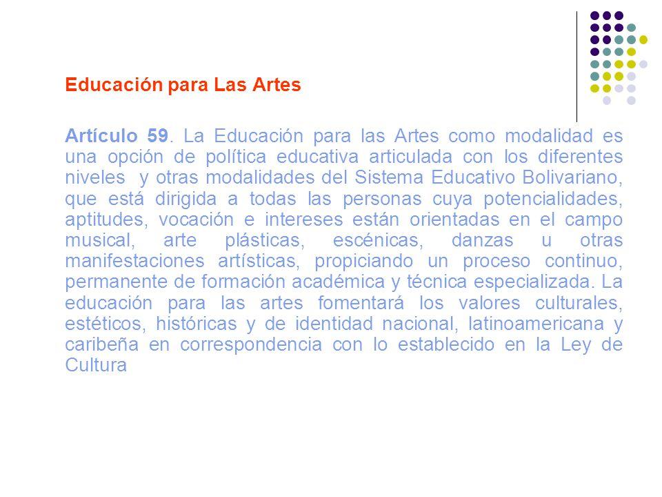 Educación para Las Artes