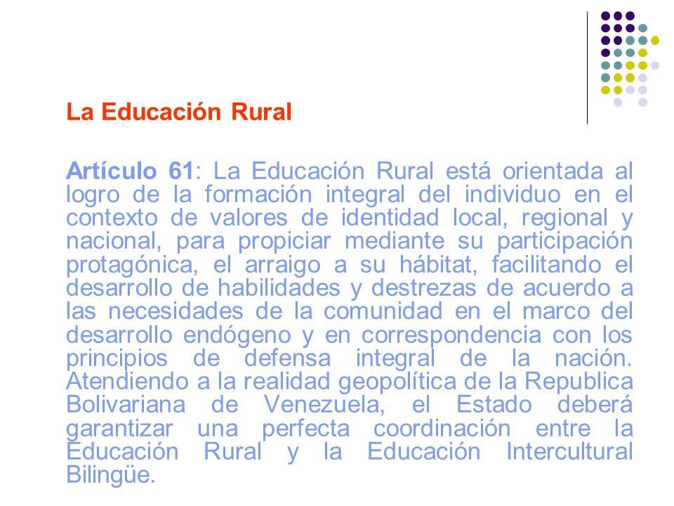 La Educación Rural