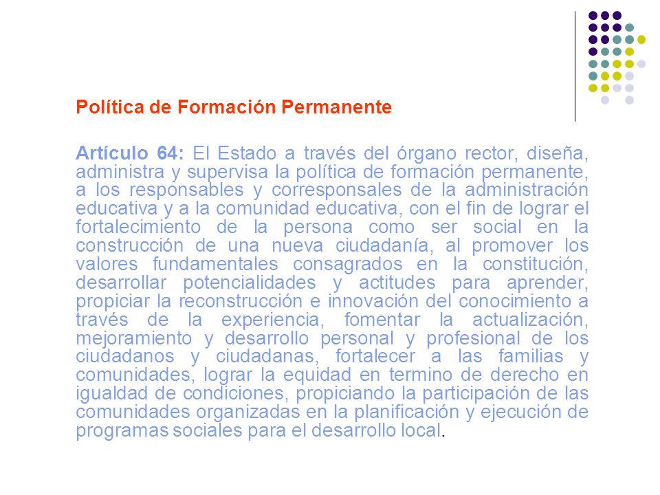 Política de Formación Permanente