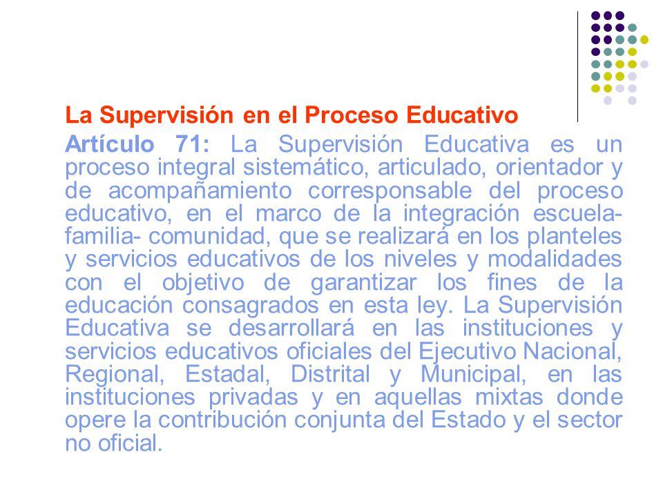 La Supervisión en el Proceso Educativo