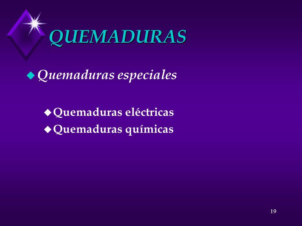QUEMADURAS Quemaduras especiales Quemaduras eléctricas