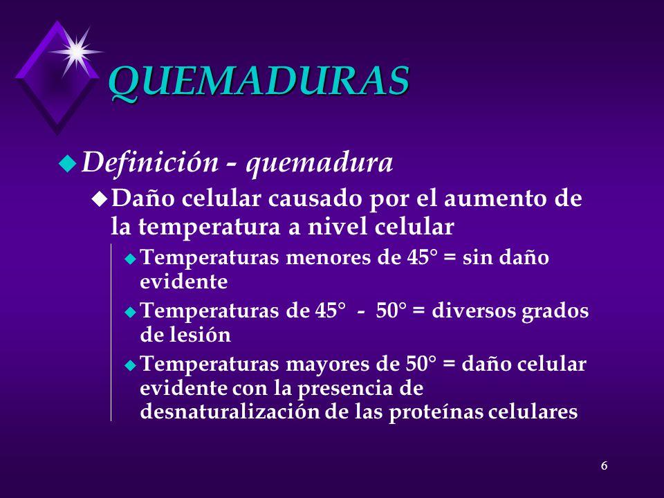 QUEMADURAS Definición - quemadura