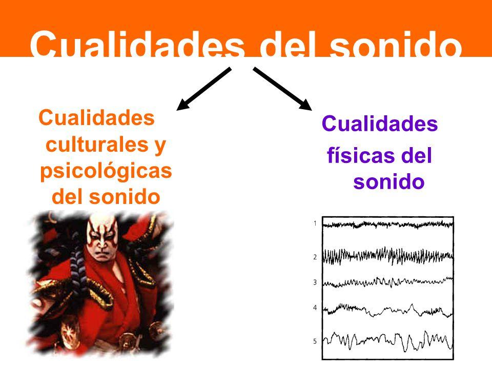 Cualidades culturales y psicológicas del sonido