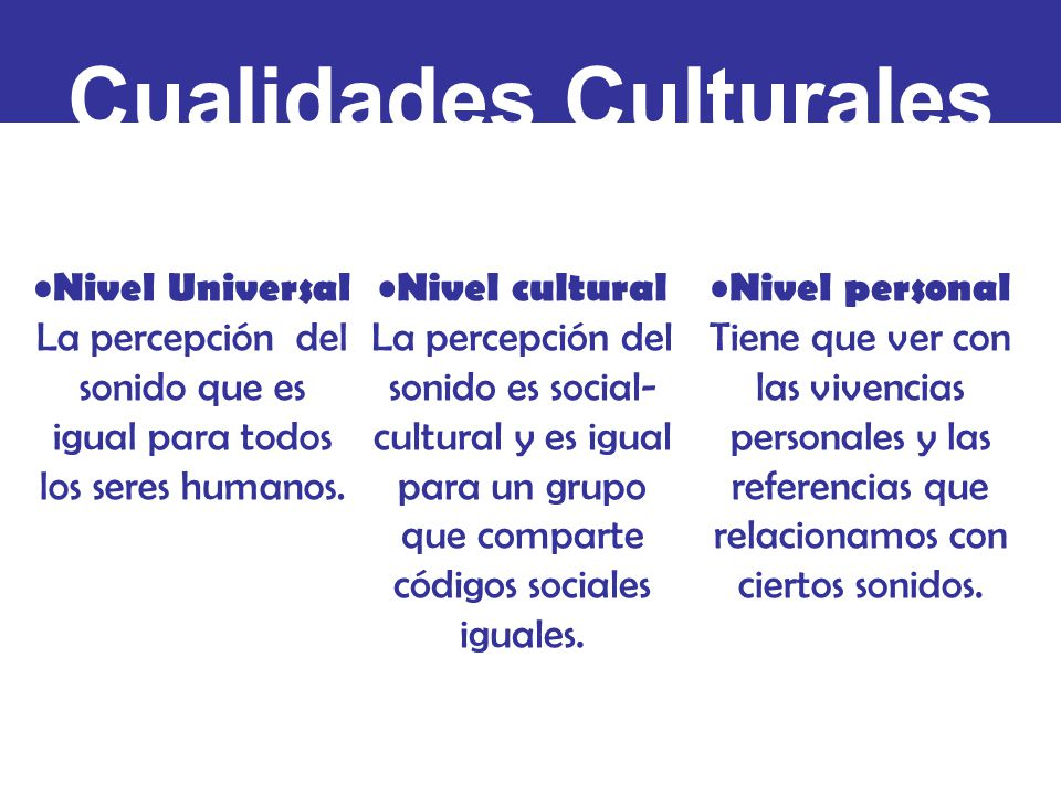 Cualidades Culturales