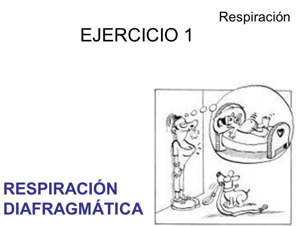 Respiración EJERCICIO 1 RESPIRACIÓN DIAFRAGMÁTICA