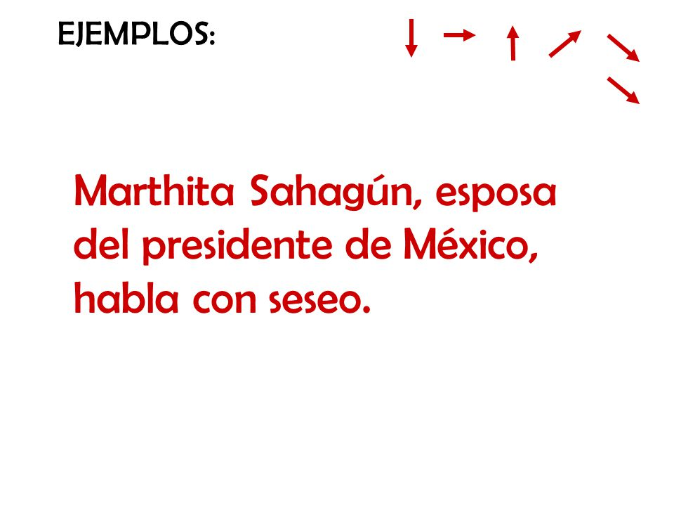Marthita Sahagún, esposa del presidente de México, habla con seseo.