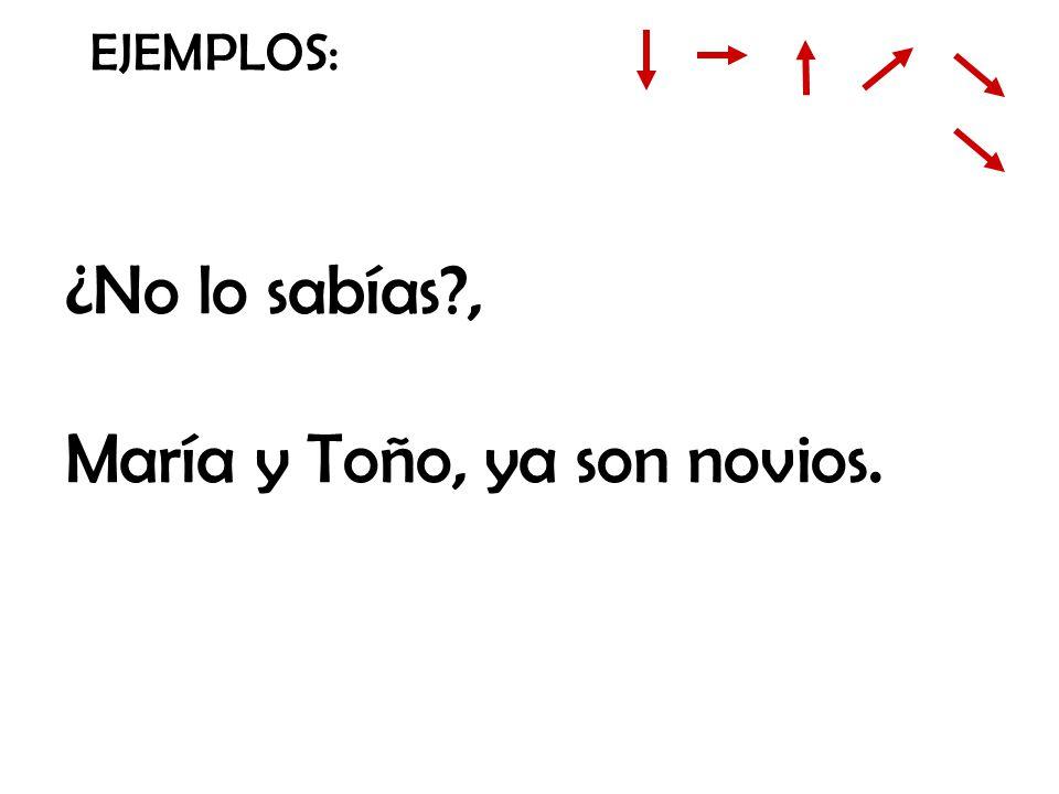 María y Toño, ya son novios.