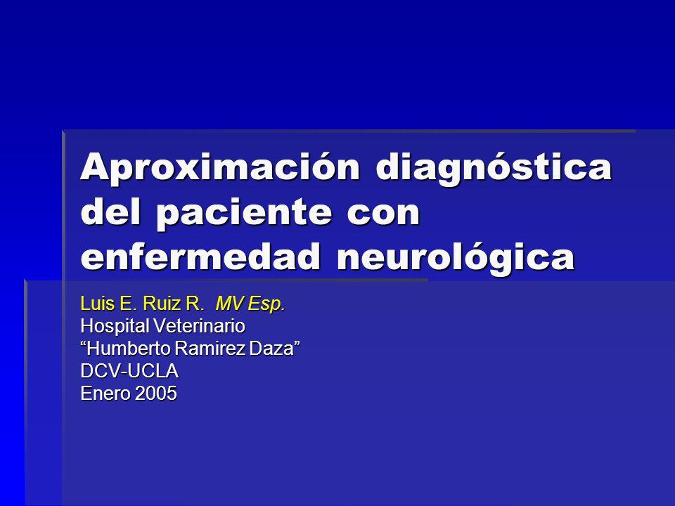 Aproximación diagnóstica del paciente con enfermedad neurológica