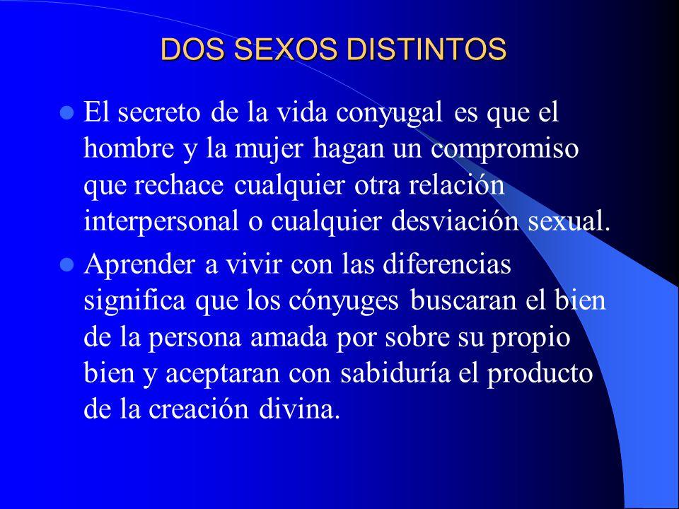 DOS SEXOS DISTINTOS