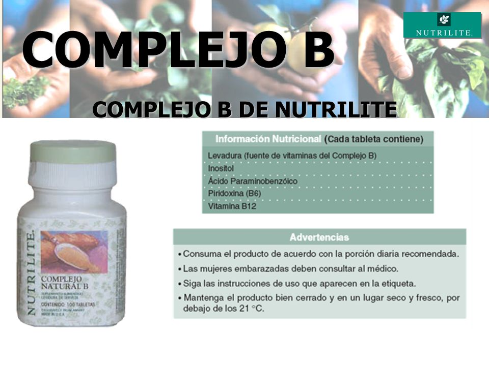 COMPLEJO B DE NUTRILITE