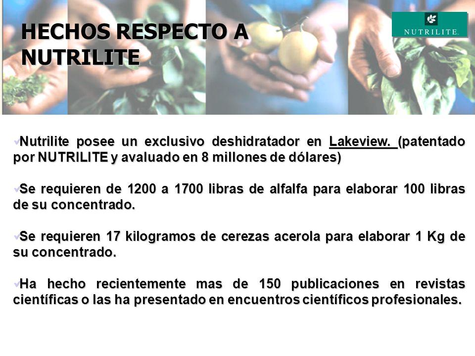 HECHOS RESPECTO A NUTRILITE