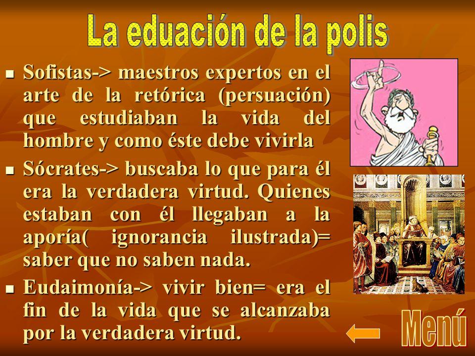 La eduación de la polis Menú