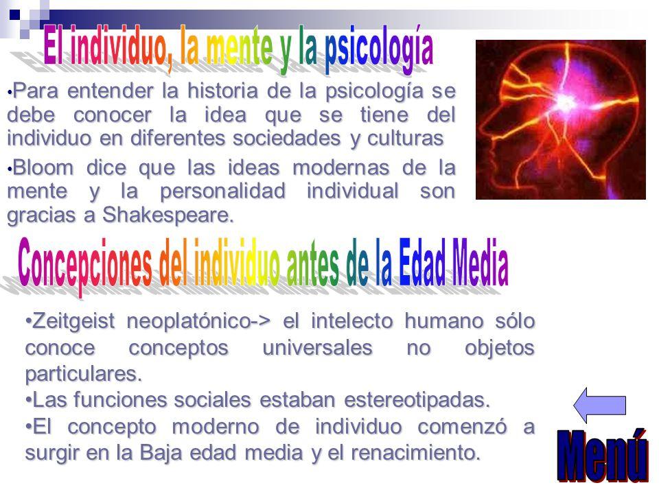 El individuo, la mente y la psicología