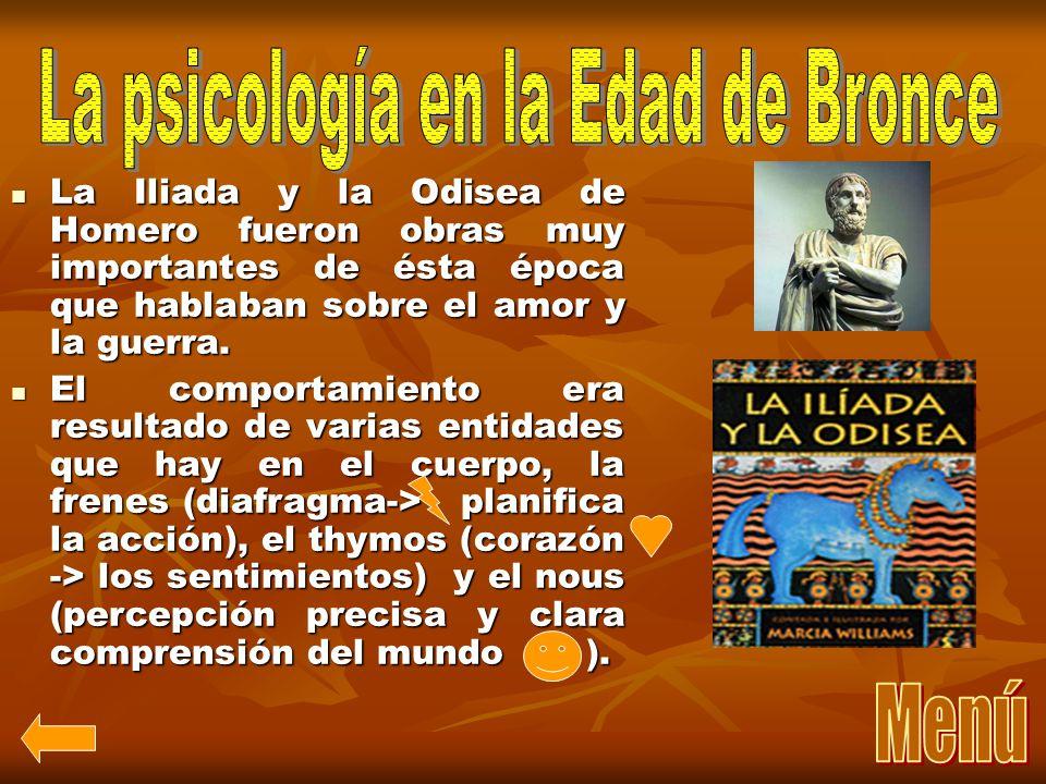 La psicología en la Edad de Bronce