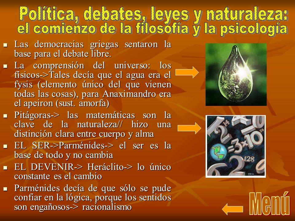 Política, debates, leyes y naturaleza: