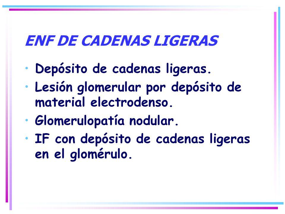 ENF DE CADENAS LIGERAS Depósito de cadenas ligeras.