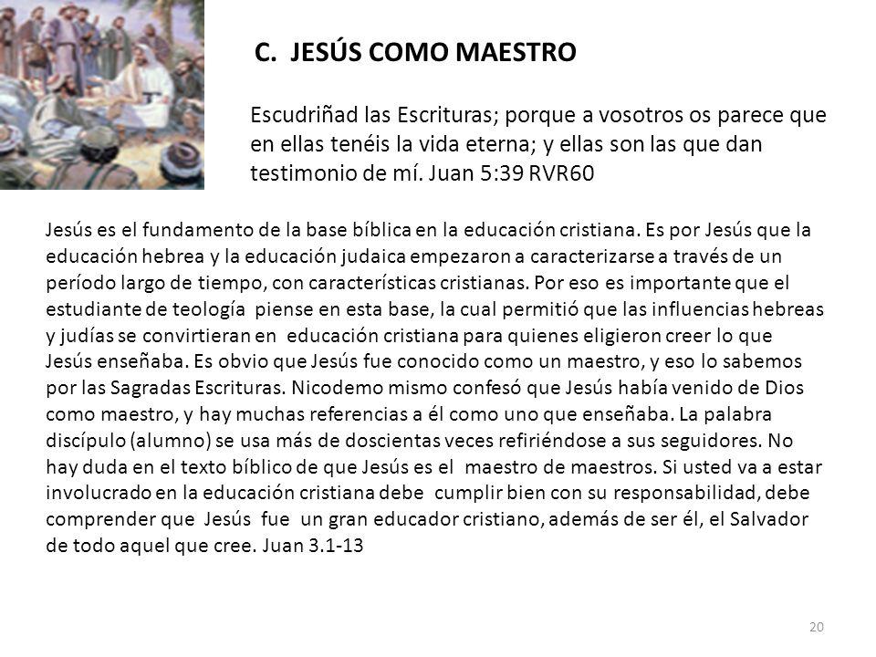 C. JESÚS COMO MAESTRO