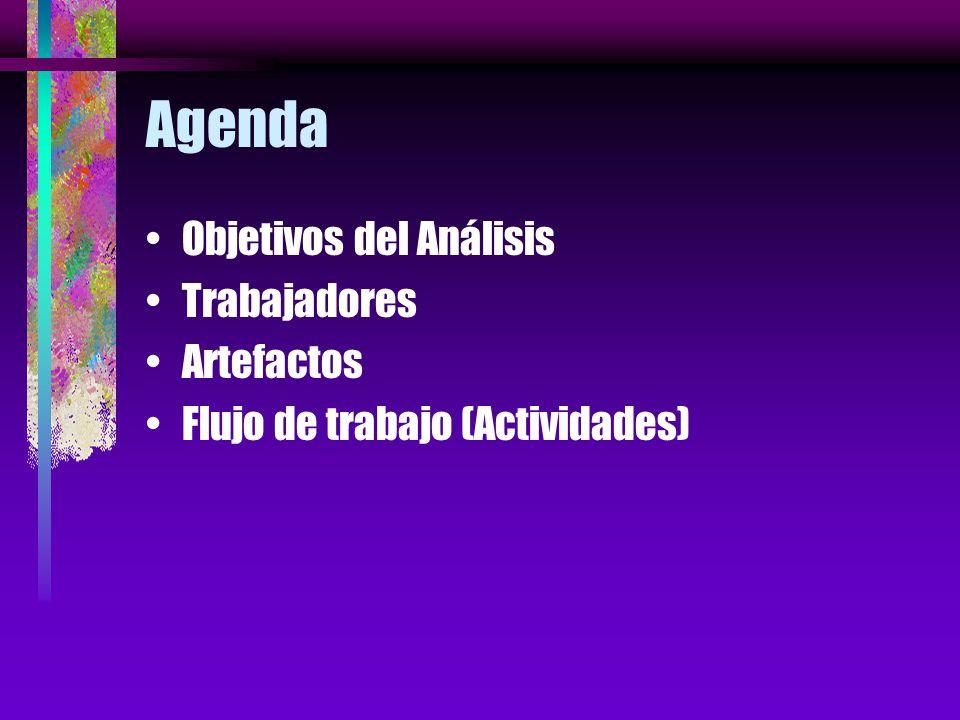 Agenda Objetivos del Análisis Trabajadores Artefactos