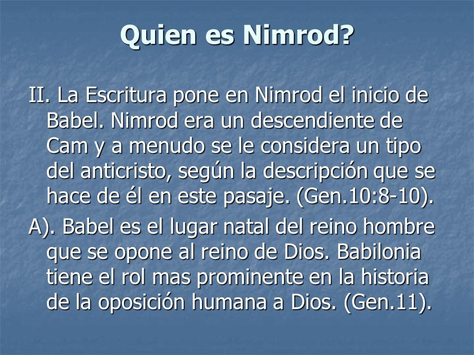 Quien es Nimrod
