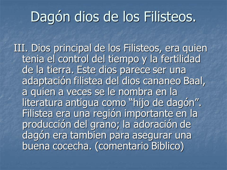 Dagón dios de los Filisteos.