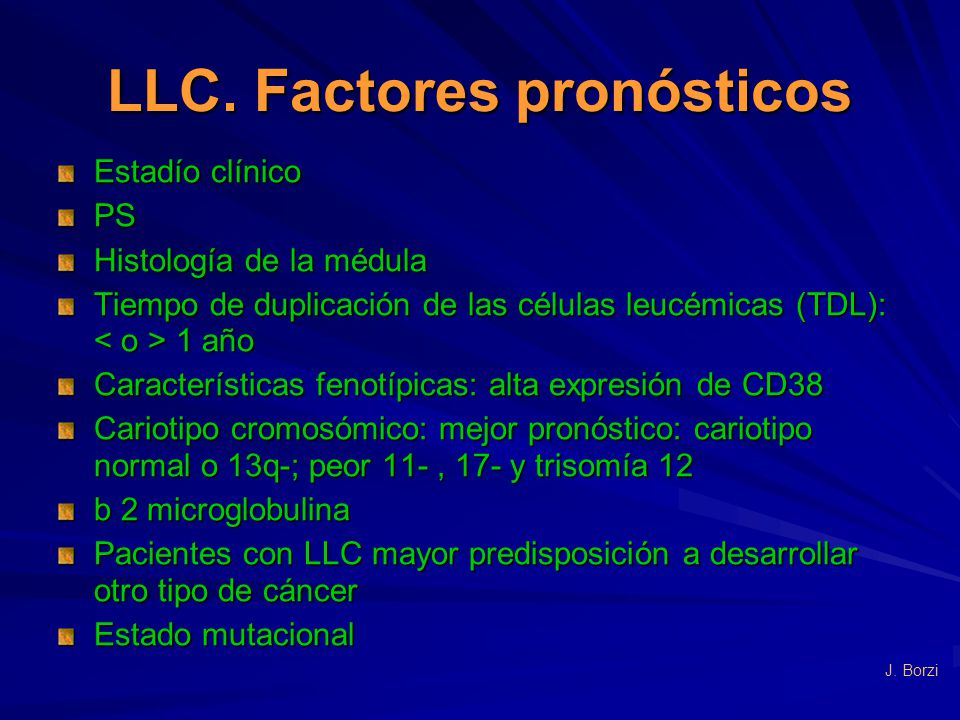 LLC. Factores pronósticos
