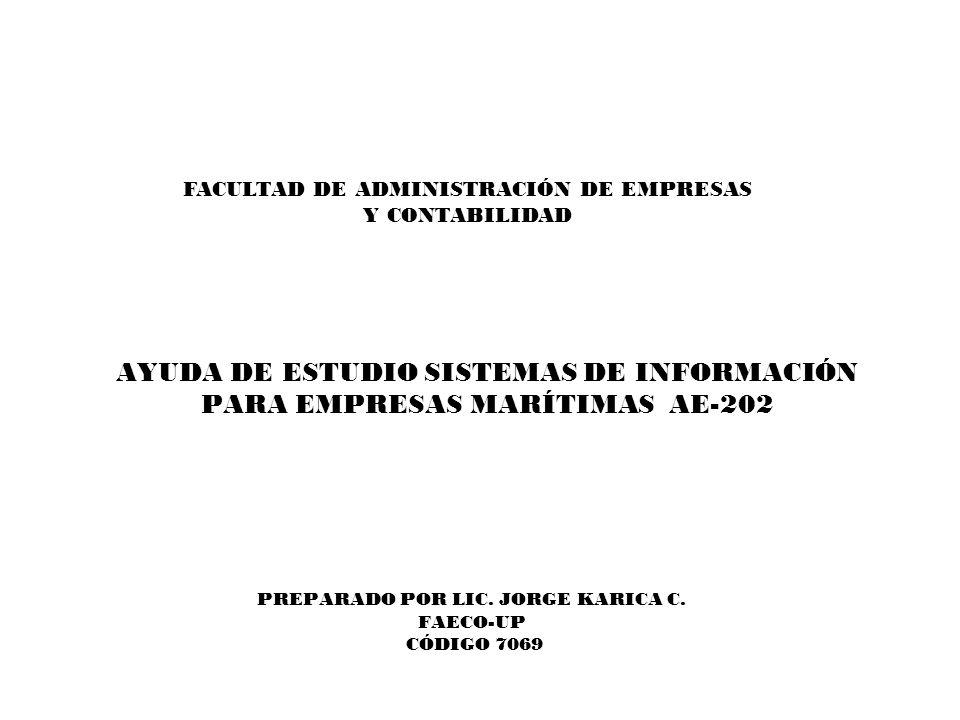PREPARADO POR LIC. JORGE KARICA C. FAECO-UP CÓDIGO 7069