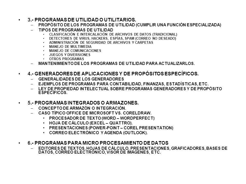 3.- PROGRAMAS DE UTILIDAD O UTILITARIOS.