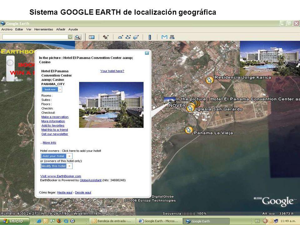 Sistema GOOGLE EARTH de localización geográfica