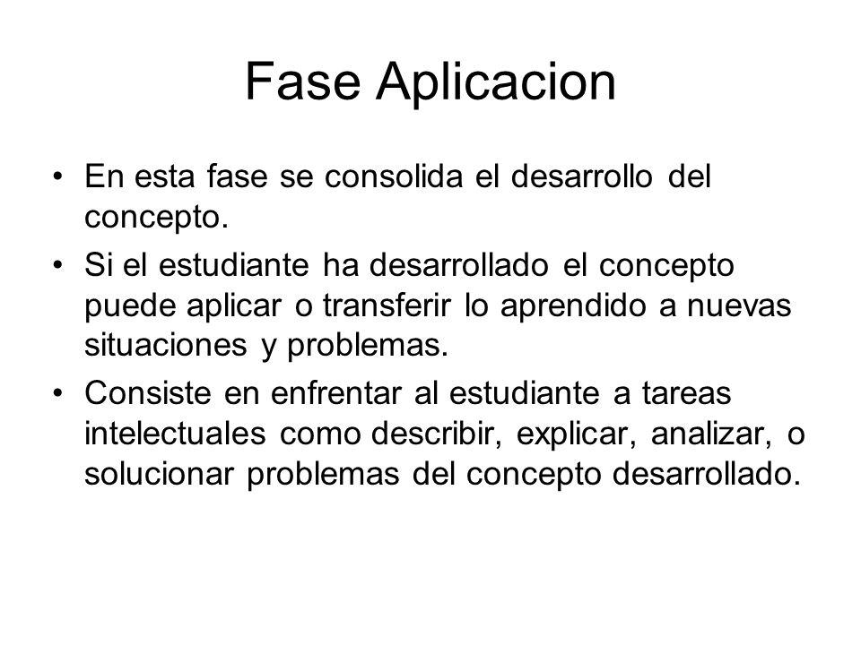 Fase Aplicacion En esta fase se consolida el desarrollo del concepto.