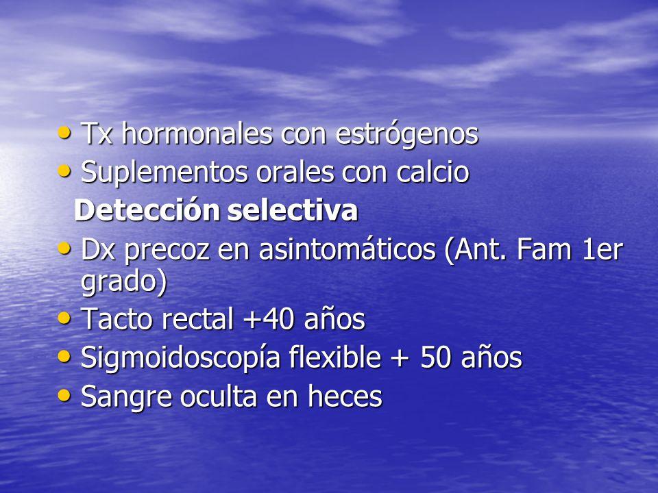 Tx hormonales con estrógenos