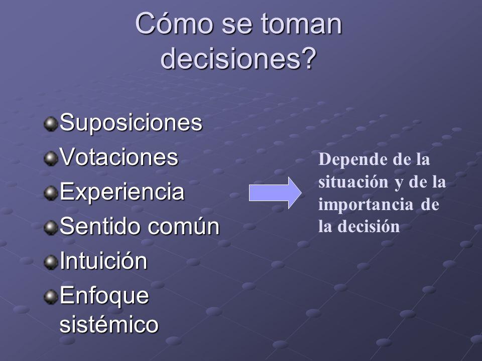 Cómo se toman decisiones