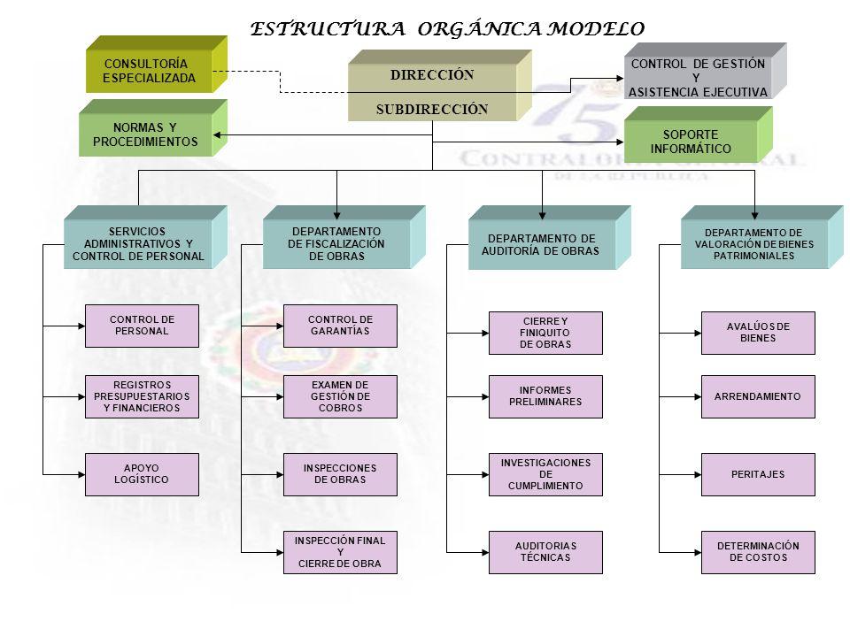 ESTRUCTURA ORGÁNICA MODELO