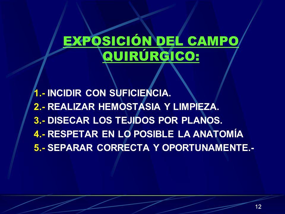 EXPOSICIÓN DEL CAMPO QUIRÚRGICO:
