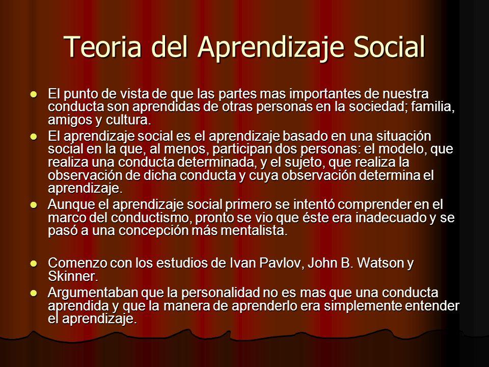 Teoria del Aprendizaje Social