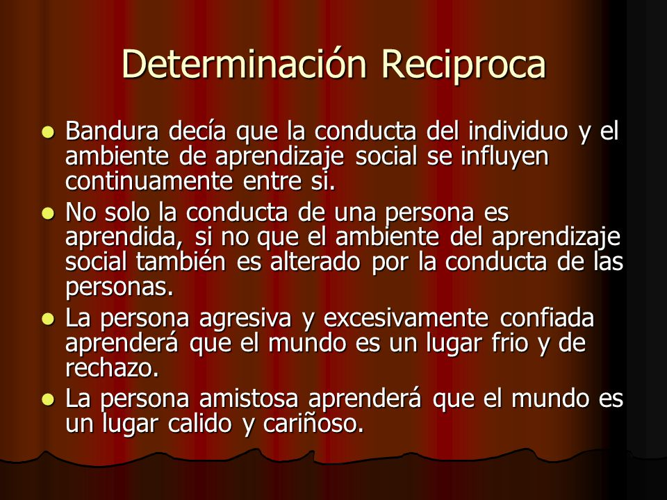 Determinación Reciproca